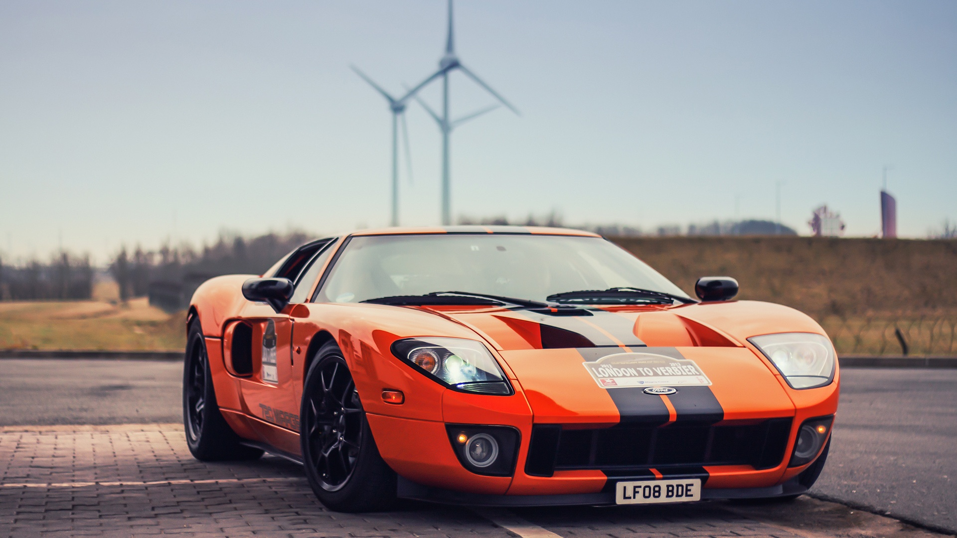 Ford Gt Orange Ford Gt Wallpaper 40096079 Fanpop