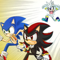 Get back here! - sonic-shadow-and-silver fan art