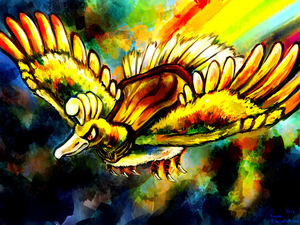 Go Back immagini For Ho Oh And Lugia wallpaper