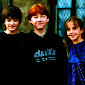 Harry, Ron and Hermione peminat Art