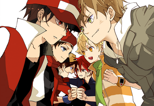 Pokemon Guys wallpaper probably containing anime called Heroes vs Rivals