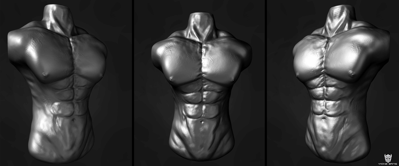 Yacinebrinis Picha High Poly Renders View 01 Anatomy Of A Man Kwa