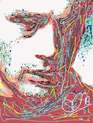 James Dean, Finger Painting Digital