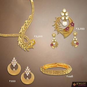 Imitation Jewellery online store: Buy Kundan, AD, Bridal sets Online - Jewlot.com