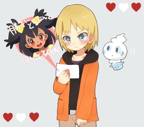 Iris from Isshu Hintergrund with Anime called Iris and Trip with Vanillite