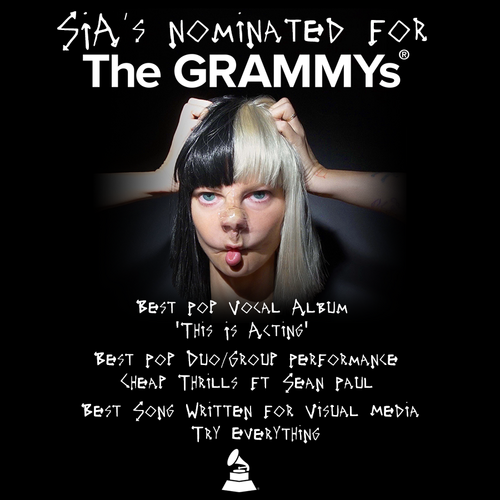 Sia wallpaper entitled It's a big tahun for Sia at the 2017 GRAMMYs!