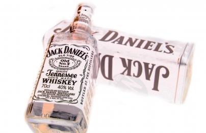 Jack Daniels whisky white