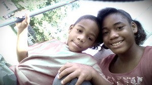 JamiyaSmith and her lil brother 4L