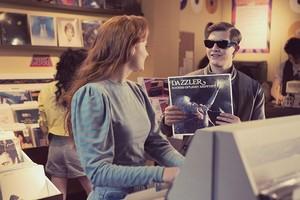 Jean Grey (Sophie Turner) and Scott Summers bond over Dazzler album