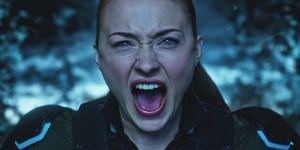 Jean Grey (Sophie Turner) on the astral plane unleashing her full power on Apocalypse