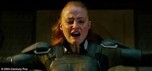 Jean Grey (Sophie Turner) unleashing Phoenix on Apocalypse