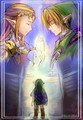 Link and Zelda - the-legend-of-zelda fan art