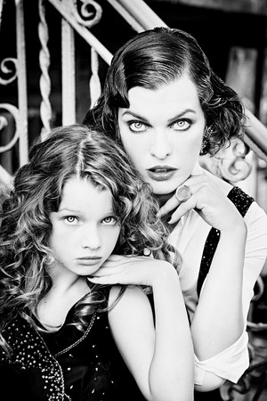 Milla Jovovich and Ever Gabo Jovovich-Anderson - Vs Magazine Photoshoot - Fall/Winter 2016