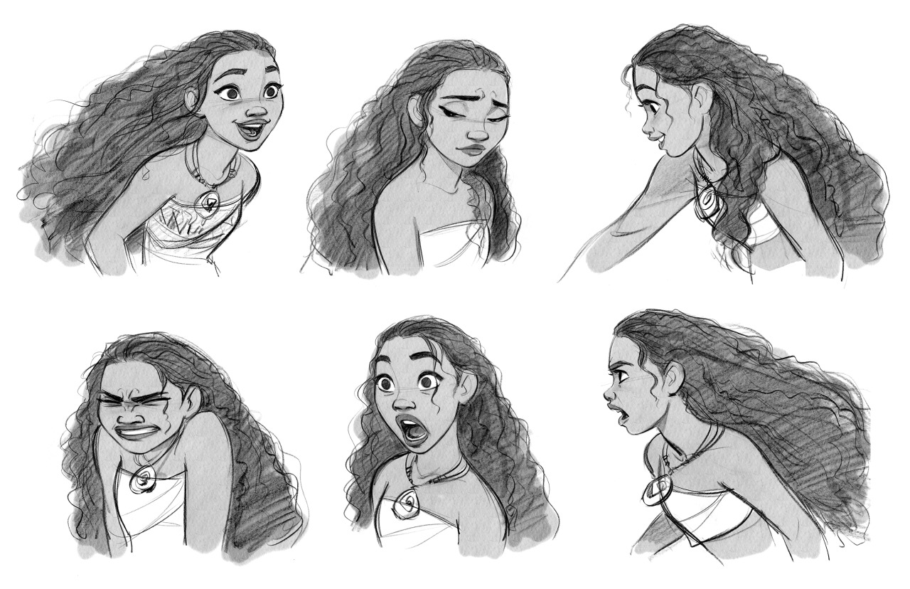 Moana facial expressions