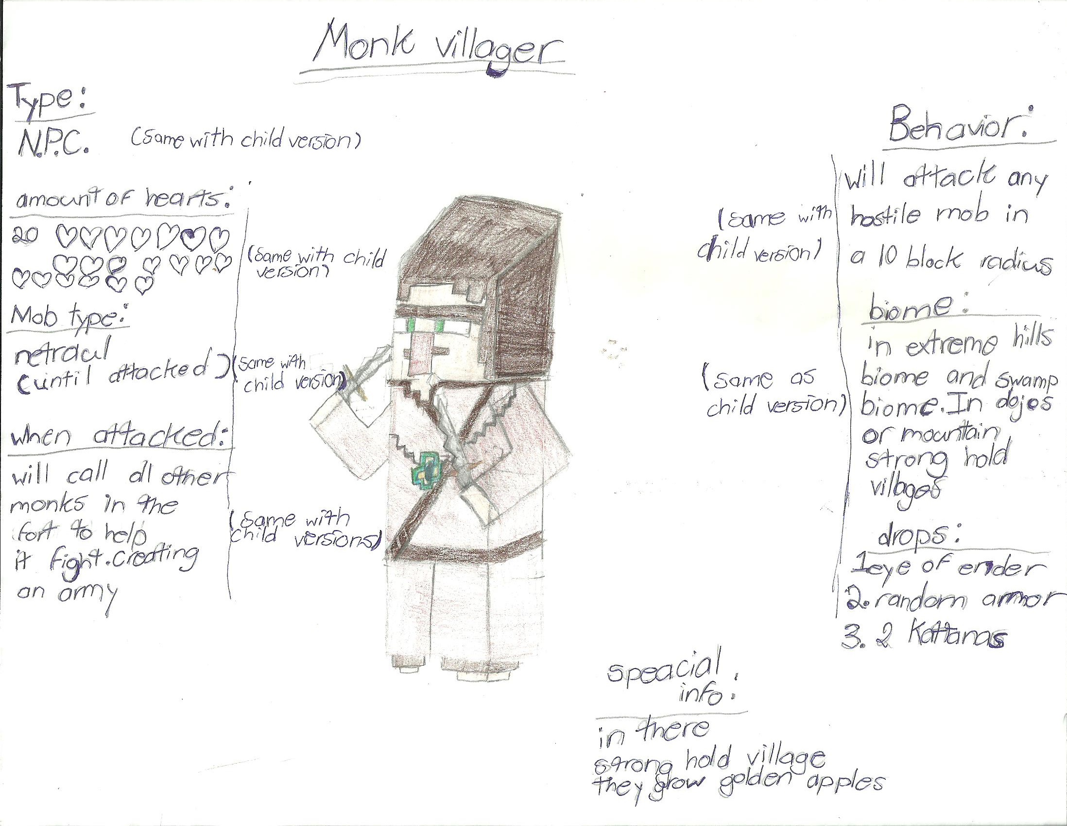 minecraft images monk villager hd wallpaper and background photos