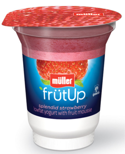 Muller strawberry FrutUp Yogurt