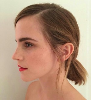 "New personal foto of Emma made before the premiere of the film ""City of Joy"""