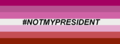 NotMyPresident Banner - lgbt fan art