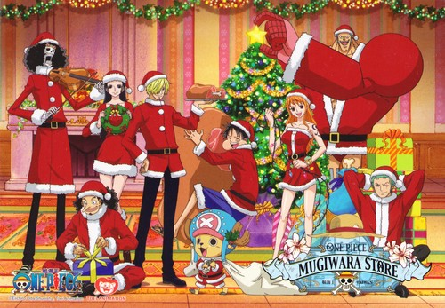 One Piece achtergrond entitled One Piece Christmas
