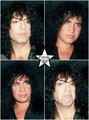 Paul and Gene ~Los Angeles, California…October 3, 1991  - kiss photo