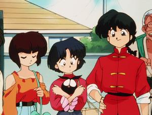 Ranma, Akane, P-chan, and Nabiki