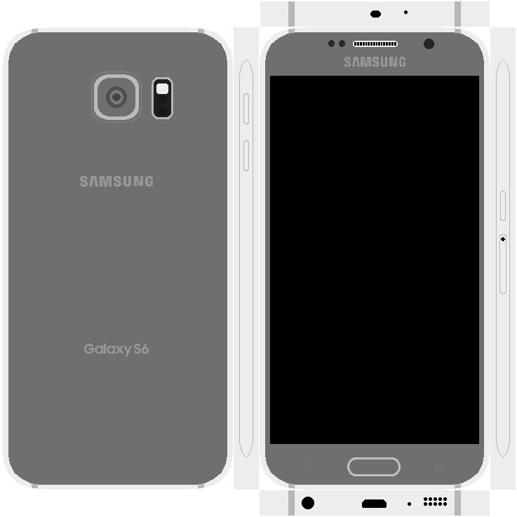 Samsung Galaxy S6 Papercraft 3