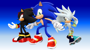 Sonic Shadow and Silver the Hedgehog 25th Anniversary