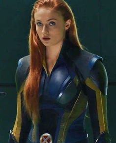 Sophie Turner as Jean Grey in the Danger Room of X men Apocalypse 2016