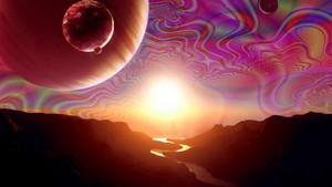 luar angkasa Acid Trip.