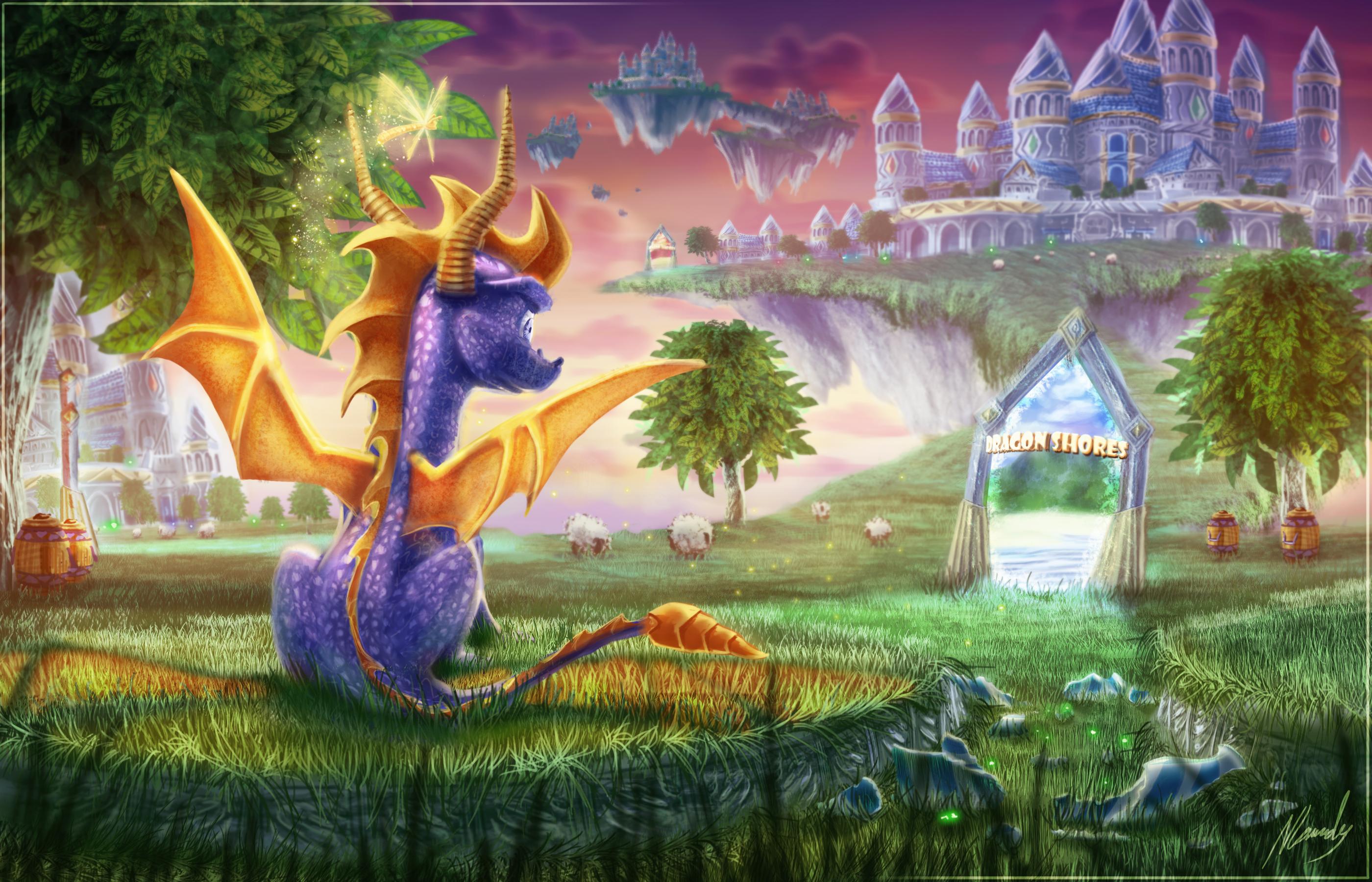Spyro achtergrond