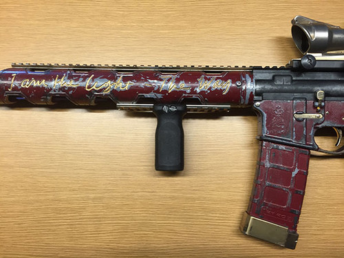 Suicide Squad achtergrond called Suicide Squad Weapons: Deadshot's Custom AR-15