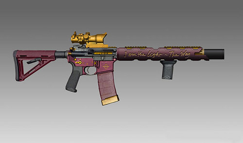 Suicide Squad wallpaper entitled Suicide Squad Weapons: Deadshot's Custom AR-15