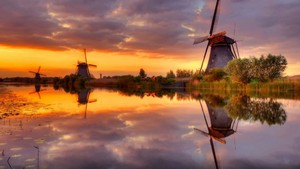 Sunset Sail Boat.