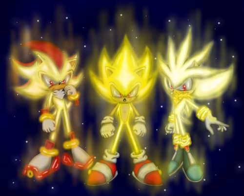 Sonic, Shadow, and Silver images Super Forms HD wallpaper ...