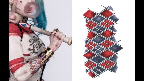 Harley Quinn wallpaper probably with a chainlink fence called Tattoo Guide ~ Harley Quinn