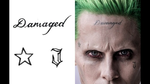 Suicide Squad kertas dinding possibly with a portrait entitled Tattoo Guide ~ The Joker