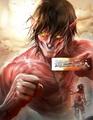 Titan Eren   Mikasa - anime fan art