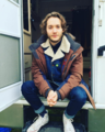 Toby on the set of The Last Kingdom