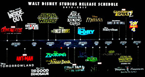 Upcoming disney filmes