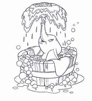 Walt ディズニー Coloring Pages - Dumbo