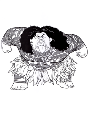 Walt 디즈니 Coloring Pages - Maui