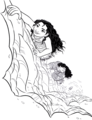 Walt 迪士尼 Coloring Pages - Moana Waialiki & Maui