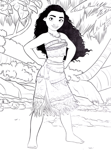 personagens de walt disney wallpaper containing animê entitled Walt disney Coloring Pages - Moana Waialiki