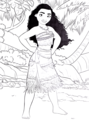 Walt 迪士尼 Coloring Pages - Moana Waialiki