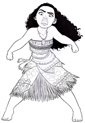 Walt Дисней Coloring Pages - Moana Waialiki