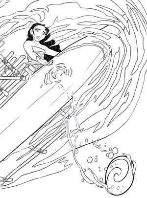 Walt ডিজনি Coloring Pages - Moana Waialiki
