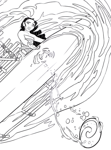 Moana Coloring Pages - Coloring Home | 500x370