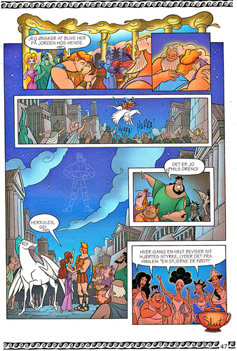 Walt Disney Characters wallpaper called Walt Disney Movie Comics - Hercules (Danish 1997 Version)