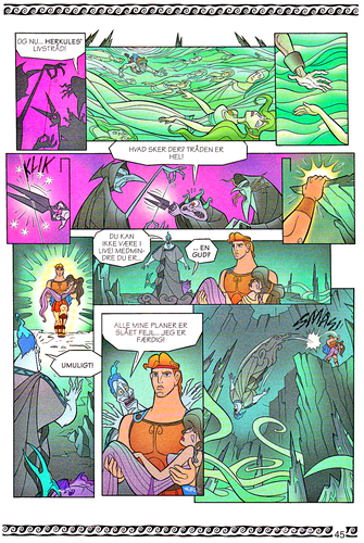 Walt Disney Characters karatasi la kupamba ukuta entitled Walt Disney Movie Comics - Hercules (Danish 1997 Version)