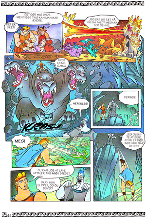 Walt 디즈니 Movie Comics - Hercules (Danish 1997 Version)